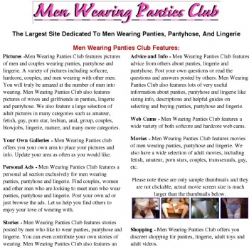 gay men wearing panties club