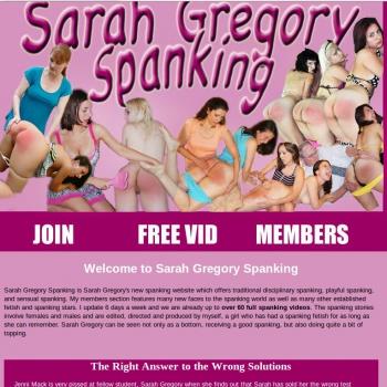 Sarah Gregory Spanking