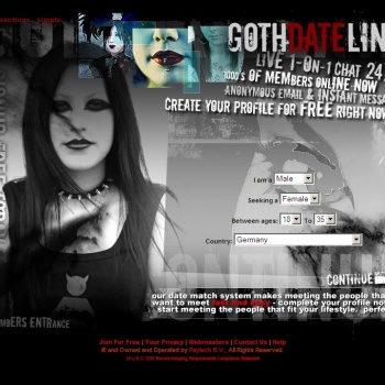 1 Online Gothic Dating Site for Gothic Singles